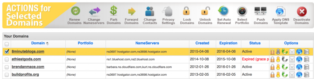 a2 hosting how to change nameservers